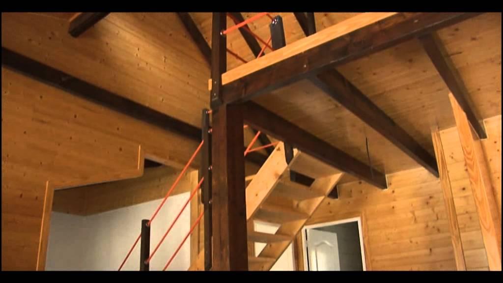 Casas carbonell modelo b ltico youtube - Altillos de madera ...
