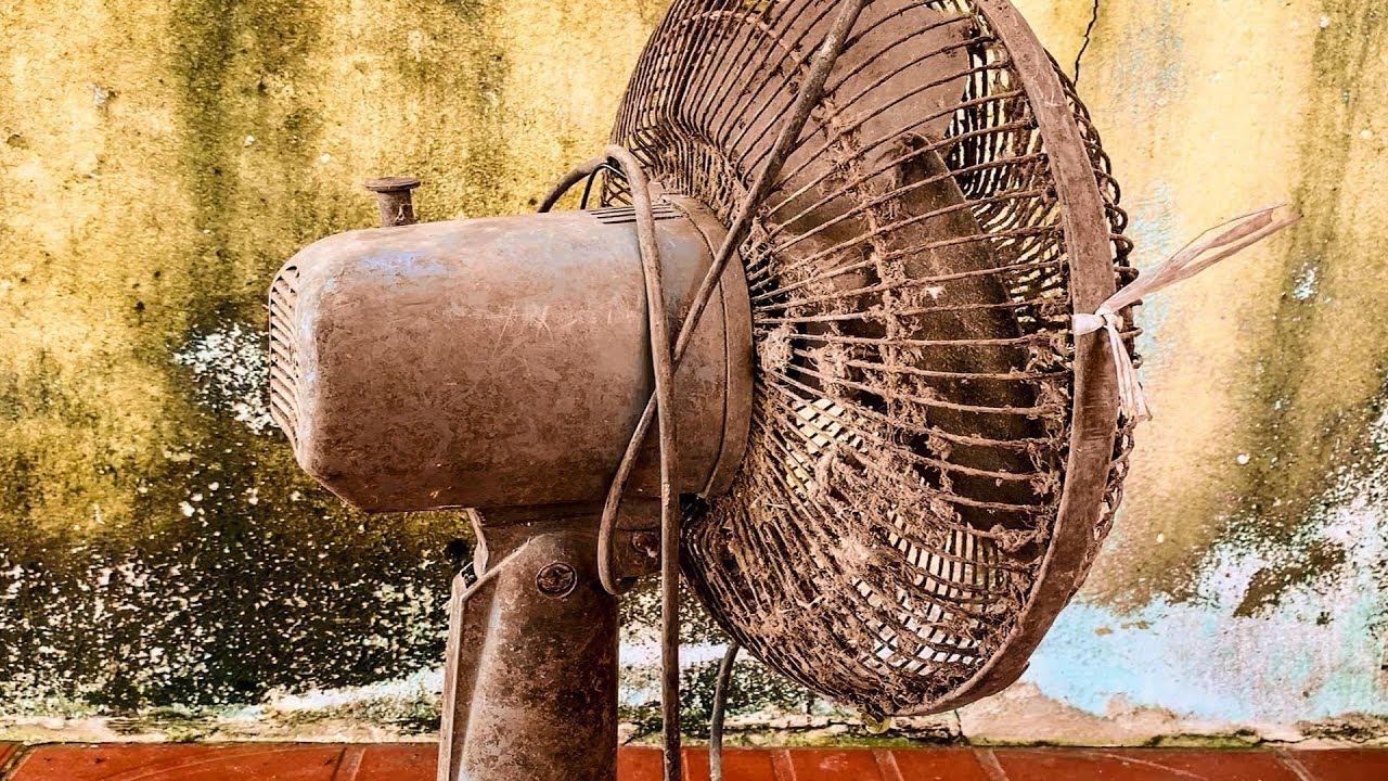 Restoration Old Rusty Table Fan