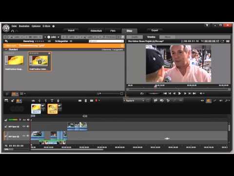 Disc Menü in Pinnacle Studio 16 und 17 Video 74 von 114