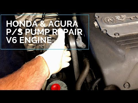 Power Steering Pump Repair & Replacement Honda Accord Acura TL V6