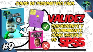 9. EASY PSYCHOMETRY: CONVERGING AND DISCRIMINATING VALIDITY | EASY IN SPSS (VALIDITY OF A TEST).