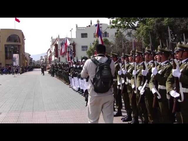 Pie de cueca y desfile militar post Te deum en La Serena Travel Video