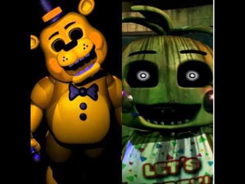 Toy Golden Freddy Phantom Chica Sings FNAF Song