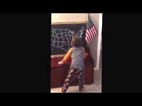 5 year old sings 50 states and capitals song