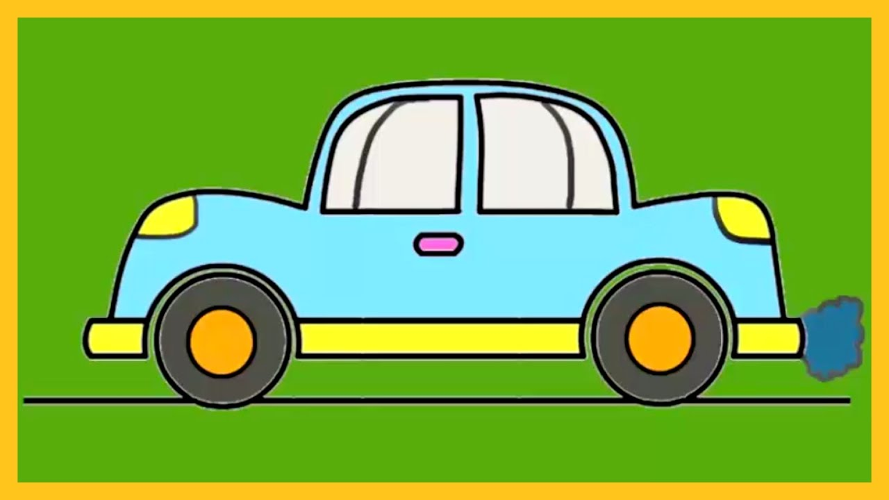 Colour a car - Learn How To Colour A Car Colouring Art For Kids Silly Kids