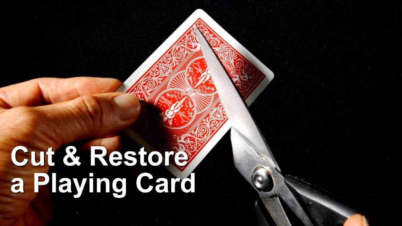 Easy Magic Trick: The Cut & Restored Playing Card - YouTube