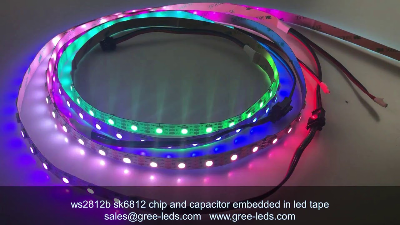 capacitor resistor chip embedded in ws2812b sk682 led strip