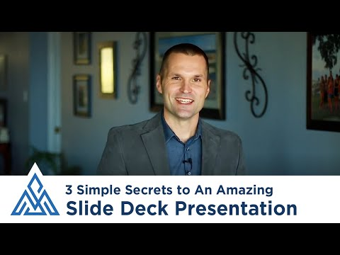 How to Give an Amazing Slide Deck (PowerPoint) Presentation