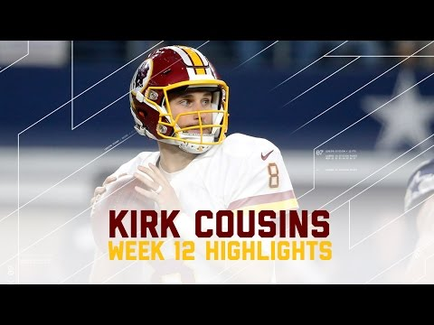 Kirk Cousins Throws for 449 Yards & 3 TDs | Redskins vs. Cowboys | NFL Week 12 Player Highlights