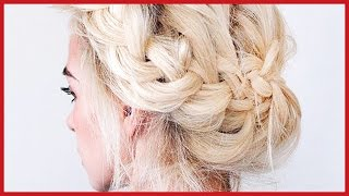 10 Hermosos Peinados  Recogidos con Trenza