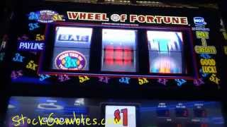Slot * Jackpot * Wheel of Fortune Machine Slots Winner Progressive Win Cash Reno Nevada Siena Casino(Slot Machine Jackpot Win Wheel of Fortune $1000 Cash Spinning the Wheel Reno Nevada Siena Hotel http://www.StockGambles.com I stopped in Reno ..., 2013-04-03T01:14:49.000Z)