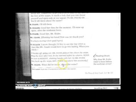 The Diary of Anne Frank Act I Part 1