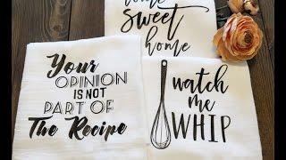 Gourmet Flour Sack Tea Towels - FREE CUT FILES