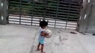 Gifty playing football