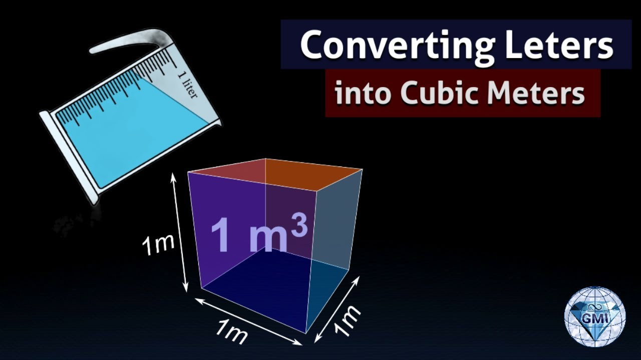 Convert Liters to cubic meters 1 L is 1000 cm cube measurements ...