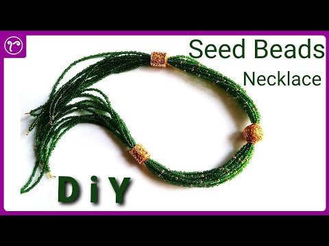 DIY Multilayer Seed Beads Traditional Necklace Making | Handmade Jewellery Making | Rubeads Jewelry