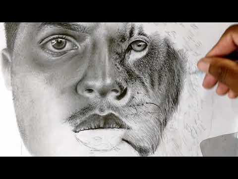 Desenho Realista Preto E Branco Speed Drawing Youtube