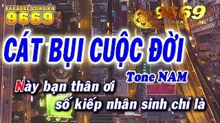 Karaoke Cát Bụi Cuộc Đời | Tone Nam | Nhạc sống LA STUDIO | Karaoke 9669