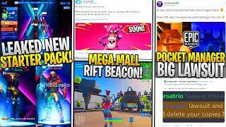 Fortnite : Pack de démarrage red Strike fuite, Pocket Manager LAWSUIT, Mega Mall Rift Beacon!