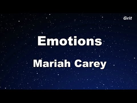 Emotions - Mariah Carey Karaoke 【No Guide Melody】 Instrumental
