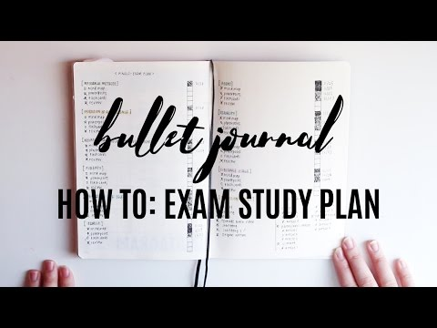 how to: exam study plan // bullet journal