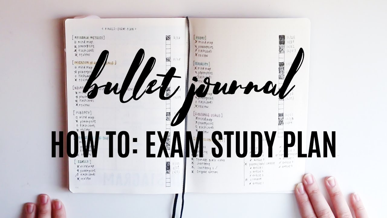 How To Exam Study Plan Bullet Journal Youtube