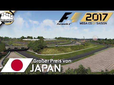 F1 2017 MEGA COOP SAISON #22 - Lauf 11 : Japan : Rennen - Let's Play F1 2017 Mega Coop