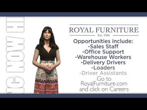 Royal Furniture Now Hiring In Alabama