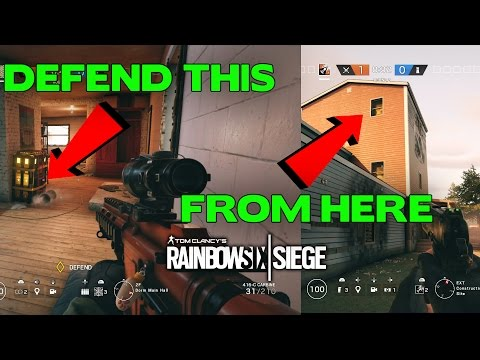 Rainbow Six Siege Tips ||  Awesome Oregon Defense Spot