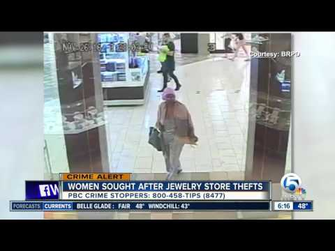 Women sought in jewelry store thefts