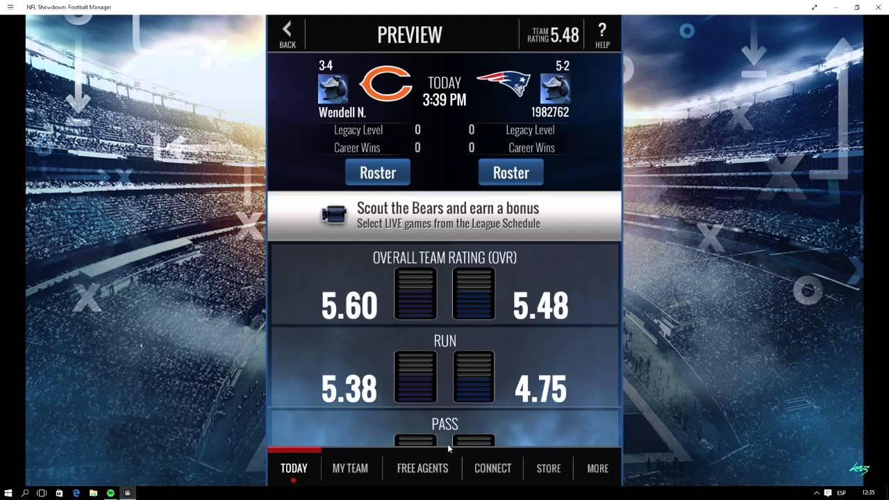 nfl showdown game
