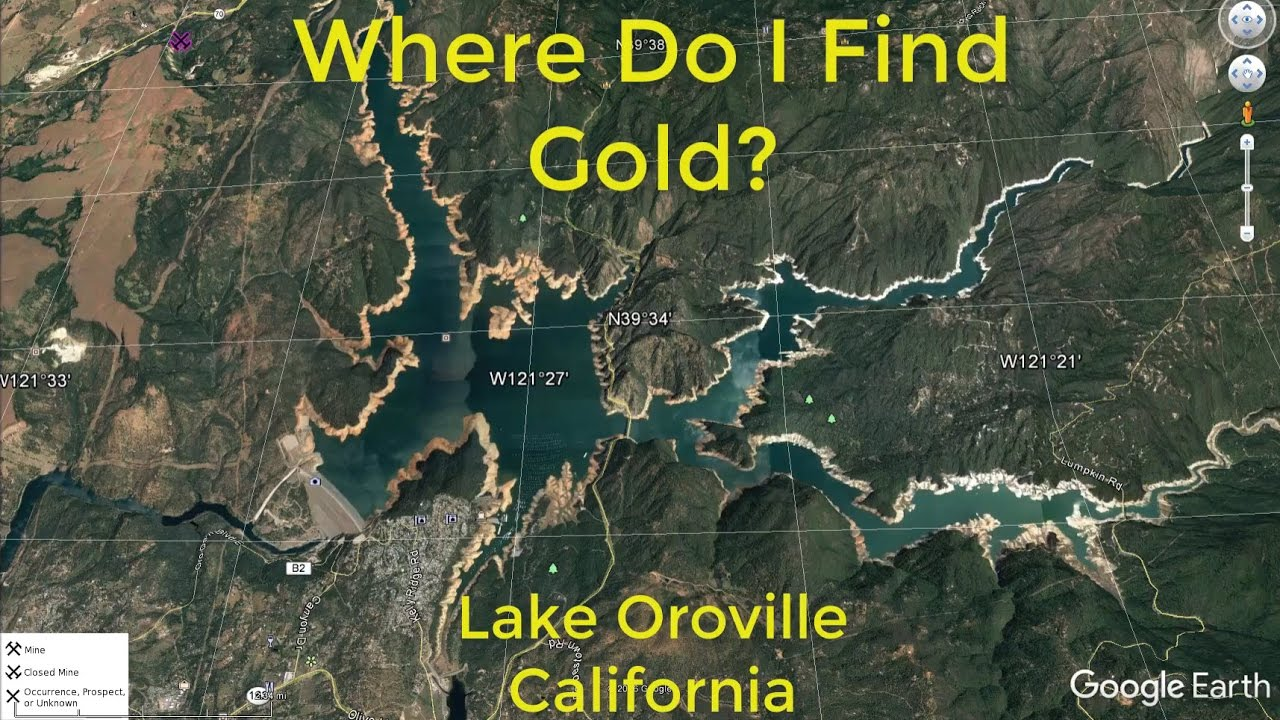 where do i find gold around lake oroville