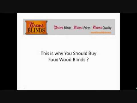 Why buy Faux Wood Blinds
