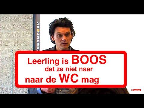 LEERLING BOOS OMDAT ZE NIET NAAR  DE WC MAG!