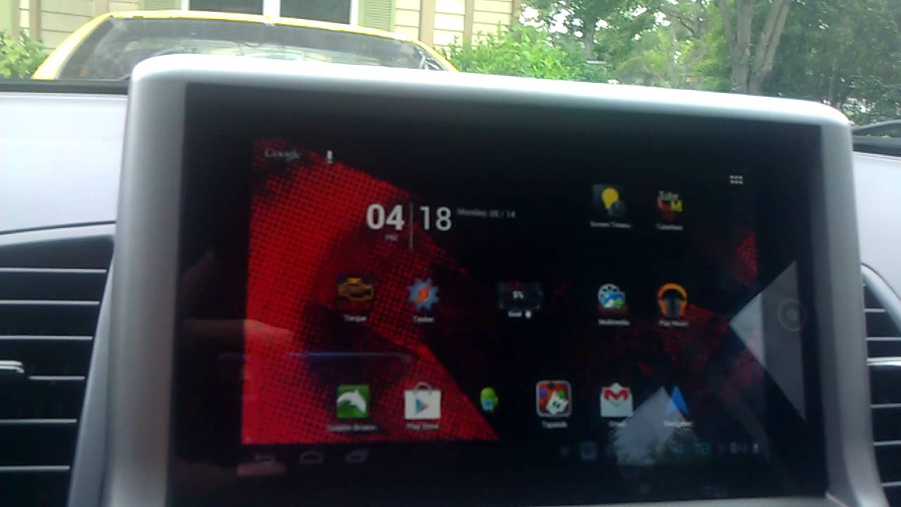 Installed Kia Soul Indash Android Tablet Youtube