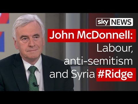 Ridge: John McDonnell MP: Labour, anti-semitism and Syria