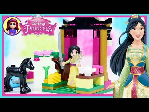 Mulan's Training Day Lego Disney Princess Set Build Review Silly Play Kids Toys