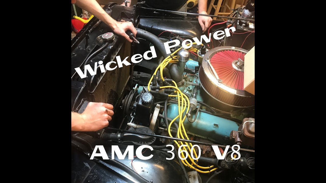 1974 Jeep Cj5 Amc 360 Alternator Wiring Diagram Content Resource 1976 Cj7 Cj 7 Build Motor Water Pump Install Part Rh Youtube Com Specifications Chevy El Camino