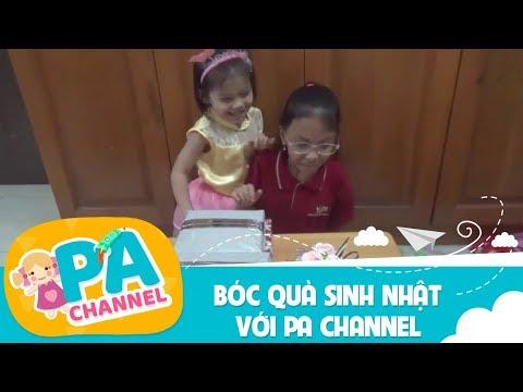 Bóc quà sinh nhật PA channel với nhiều đồ chơi trẻ em