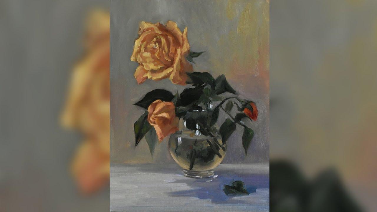Rose - Oil painting Alla Prima - Kristina Guelazonia