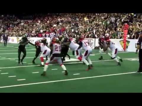 The final play of Arena Bowl XXVIII. #SanJoseSabercats #JacksonvilleSharks