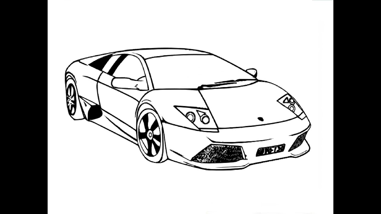 Cars Coloring Page Lambhini Countach Doors Open For Car
