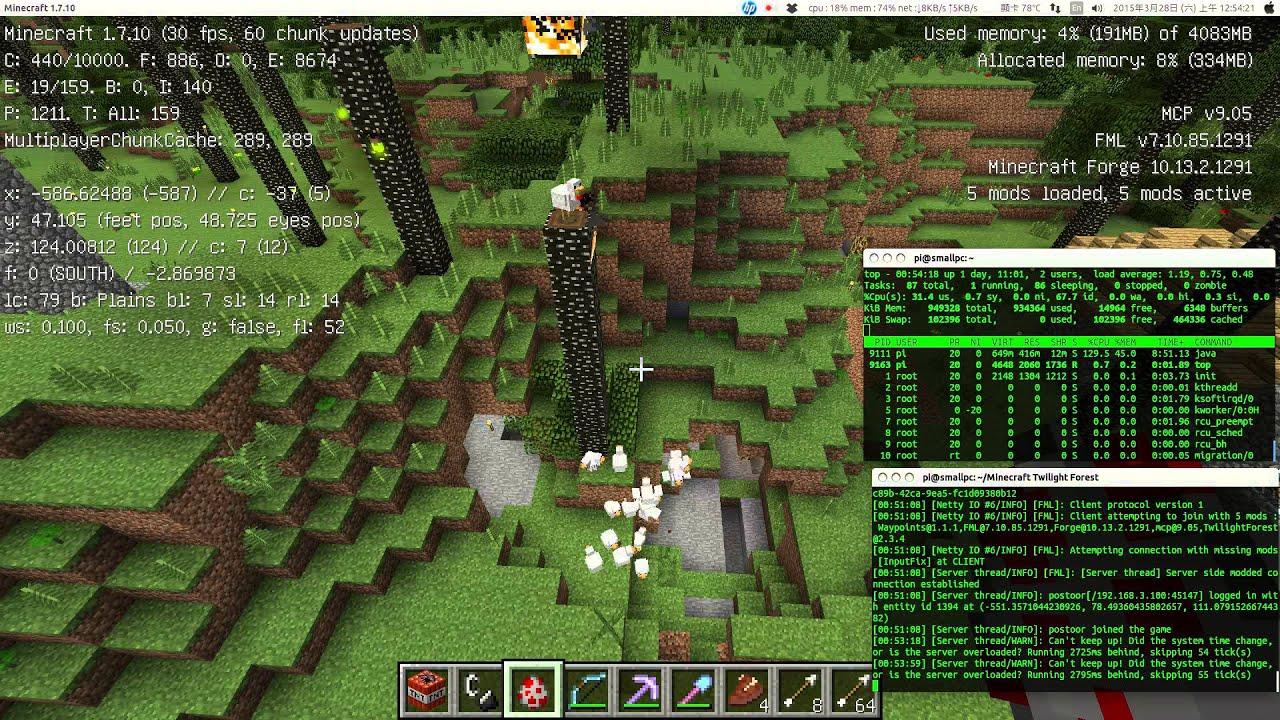Raspberry Pi B Minecraft Forge Server Test YouTube - Minecraft server erstellen 1 8 mit mods