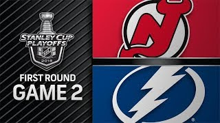 NHL 18 PS4. 2018 STANLEY CUP PLAYOFFS FIRST ROUND GAME 2 EAST: DEVILS VS LIGHTNING. 04.14.2018 !