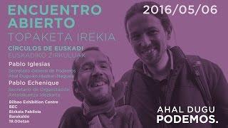 Pablo Iglesias y Pablo Echenique en Euskadi