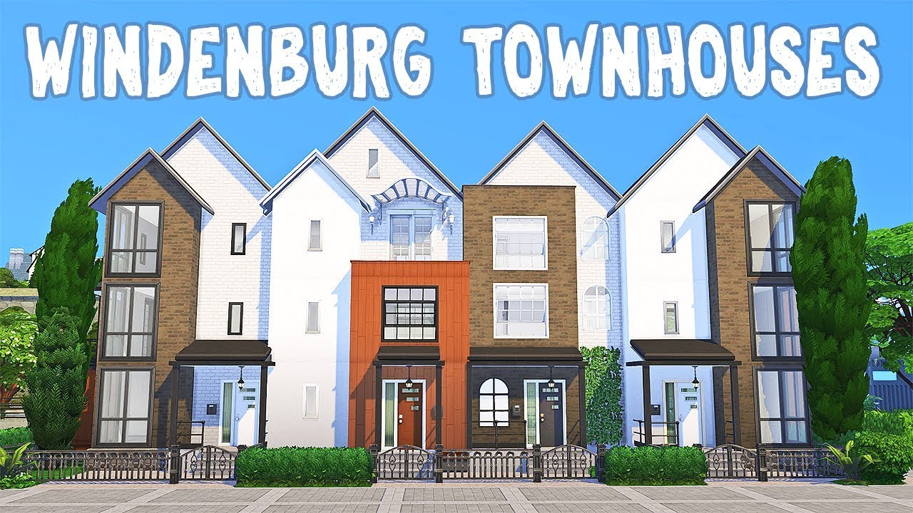 Windenburg Townhouses || The Sims 4: Speed Build #1 thumbnail