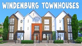 Windenburg Townhouses    The Sims 4: Speed Build #1