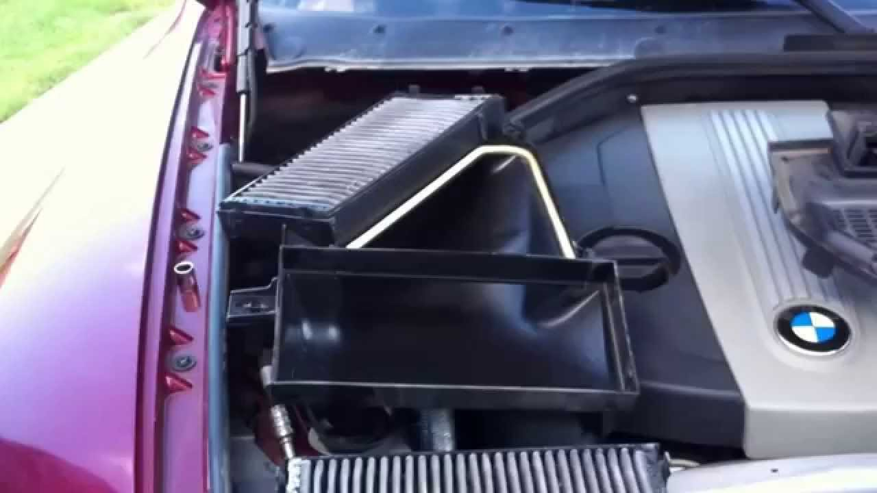 Replace bmw x5 e 70 cabin air filters youtube for What size cabin air filter do i need