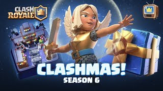 Clash Royale CLASHMAS UPDATE! ❄️ Free Tower Skin ☃️ New Card ❄️ TV Royale