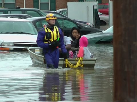 Raw: Floods Swamp Louisville, Prompt Rescues